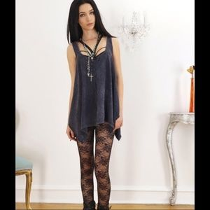 Pants - Black Lace Leggings (Not Stockings)